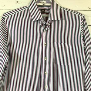 Peter Millar Purple Blue Striped Long Sleeve Shirt